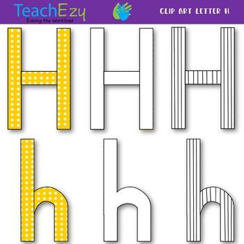 Letter H Clip Art Pack