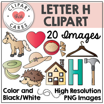 Letter H Alphabet Clipart by Clipart That Cares