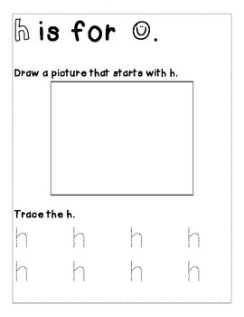 Letter H Color and Trace AlphaBook