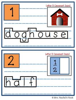 Alphabet Read the Room Letter H