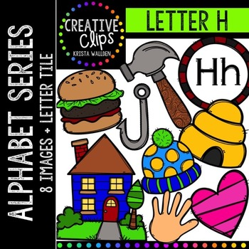 Letter H {Creative Clips Digital Clipart}