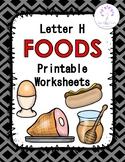 Letter H Foods Printable Worksheets