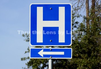 Hospital Sign Letter H with Arrow Stock Photo #45