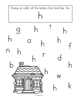 Alphabet H Letter of the Week Phonics Recognition, Sound, Tracing & Craftivities