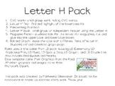 Letter H Pack