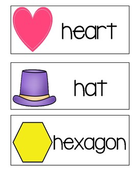 Letter H ~ Picture Word Cards