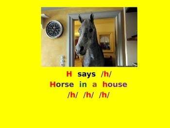 Letter H PowerPoint