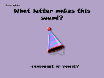 Letter H Powerpoint/Flipchart