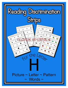 Letter H Reading Discrimination Strips for Fluency and Alphabet Recognition