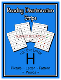 Letter H Reading Discrimination Strips for Fluency and Alp