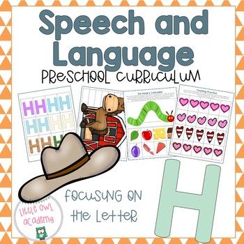 Letter H Speech and Language Preschool Curriculum