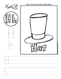 Letter H Trace and Write Worksheet Pack