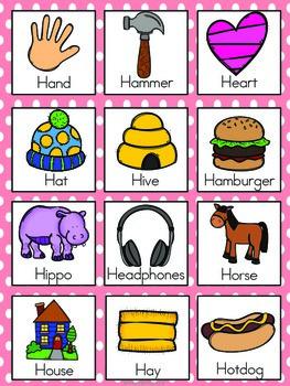Letter H Vocabulary Cards By The Tutu Teacher Teachers