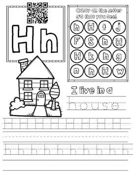 Letter H Worksheet by Miss G's Resources | Teachers Pay ...