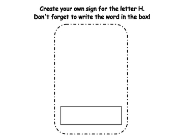 Letter H Write the Room- Includes 3 levels of answer sheets