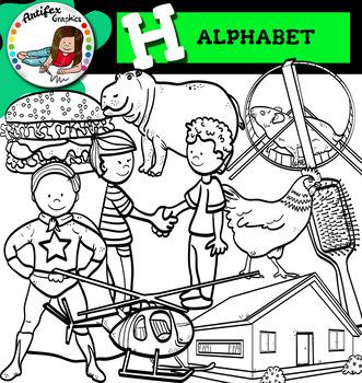 Letter H clip art set