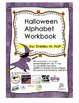 Letter H handwriting practice from Halloween Alphabet Workbook