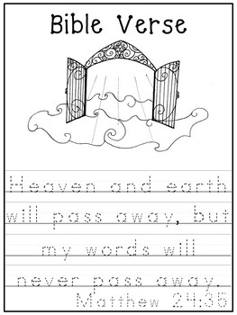 Letter H is for Heaven. Bible Letter of the Week.