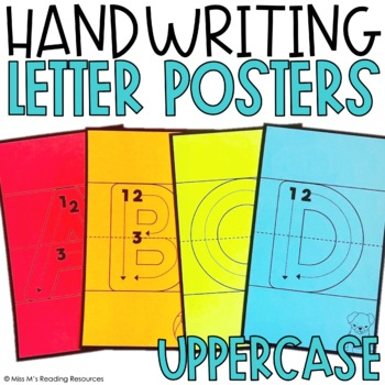 Letter Handwriting Posters Uppercase