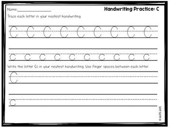 Letter Handwriting Practice