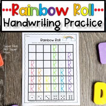 Letter Handwriting Worksheet- Rainbow Roll Capital Letters
