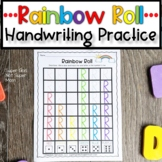 Letter Handwriting Worksheet- Rainbow Roll Capital Letters