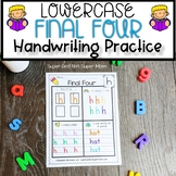 Alphabet Handwriting Practice Pages   Final Four Lowercase