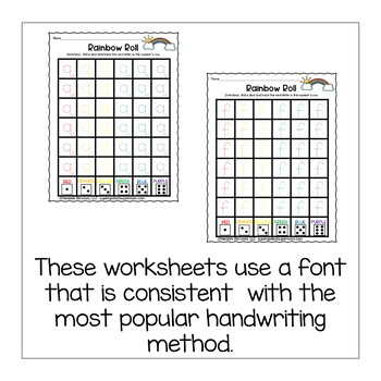 Letter Handwriting Worksheets- Rainbow Rolls- Lower Case Edition
