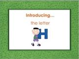 Letter Hh - Alphabet Lesson – Power Point – Interactive –