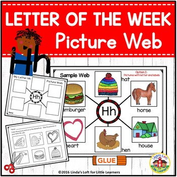 Letter Hh Beginning Sound Picture Web Activity