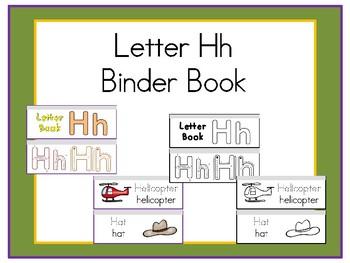 Letter Hh Binder Book
