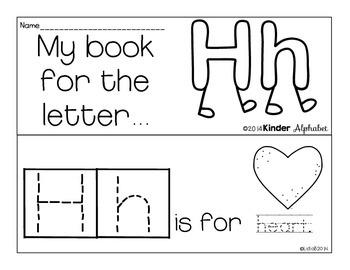 Letter Hh Booklet- Predictable Sentences