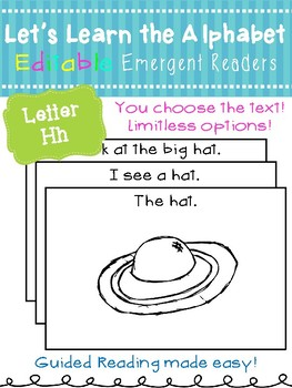 Letter Hh *Editable* Alphabet Emergent Reader