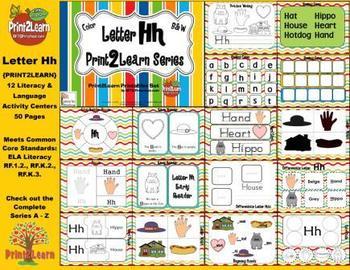 Letter Hh Language & Literacy Activity Center {COMMON CORE