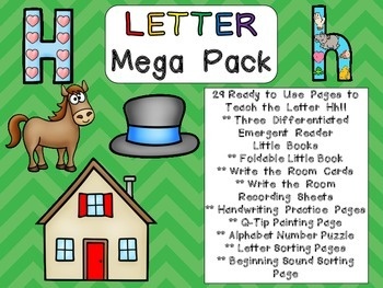 Letter Hh Mega Pack- Kindergarten Alphabet- Handwriting, Little Books, and MORE!