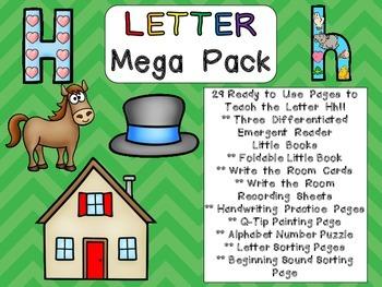 Letter Hh Mega Pack- Kindergarten Alphabet- Handwriting, L