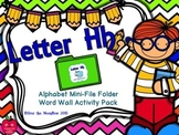 Letter Hh Mini-File Folder Word Wall Activity Pack