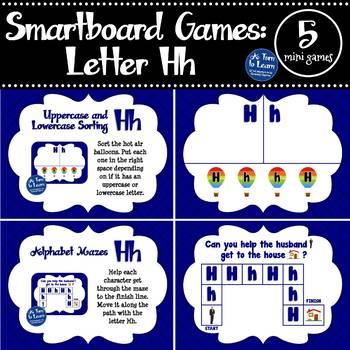 Letter Hh Smartboard Games (5 mini games) (Smartboard/Promethean Board)