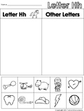 Letter Hh Beginning Sound Sort/Phonemic Awareness