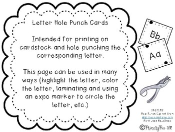 Letter Hole Punch Cards FULL version