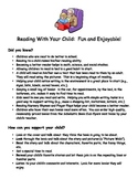 Letter Home about Reading with your Child plus a book list