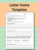 Letter Home Template