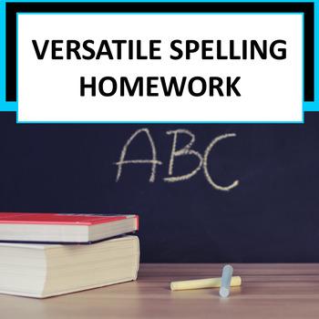 Spelling Homework for Any Word List