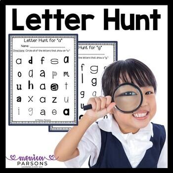 Letter Hunt Activity Pages