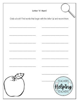 Letter Hunt A-Z Book Search