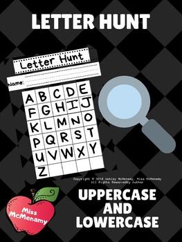Letter Hunt Activity for Preschool, Pre-K, and Kindergarten!