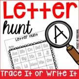 Letter Hunt for Preschool, Pre-K, and Kindergarten