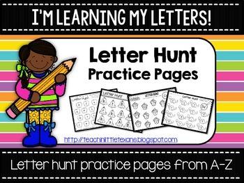 Letter Hunt Practice Pages