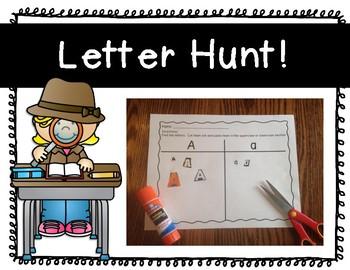 Letter Recognition; Letter Hunt