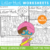 Letter Hunt Worksheets {Alphabet}